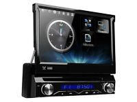 MotorisedFlip out HD Screen Car DVD CD Player With GPS Bluetooth USB SD & Radio Screen Mirroring