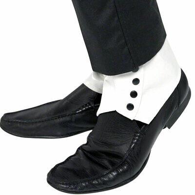 Weiß Gamaschen 1920s Schuhe Kostüm - Gangster Gamaschen Schuh
