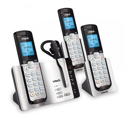 Vtech DS6672-4 3-Handset Connect to Cell Answering System with Cordless Headset