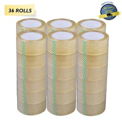 Clear Tape Packing Shipping Rolls Sealing 110 Yards Heavy Duty 330 Ft X 2 Inch