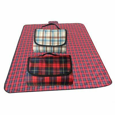 Outdoor Picnic Blanket Red Plaid Waterproof Camping BBQ Beach Mat Pad Folding  (Plaid Picnic Blanket)