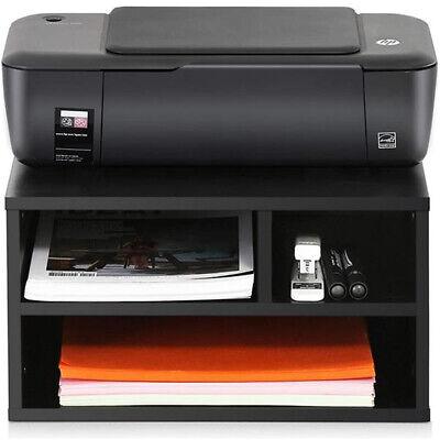 Printer Stand Desk Organizer Wood File Drawer Office Storage Shelf Desktop Us