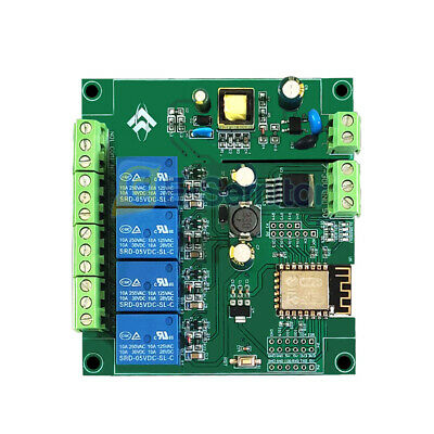 Acdc Esp8266 Wifi 4 Channels Relay Module Esp-12f Development Board