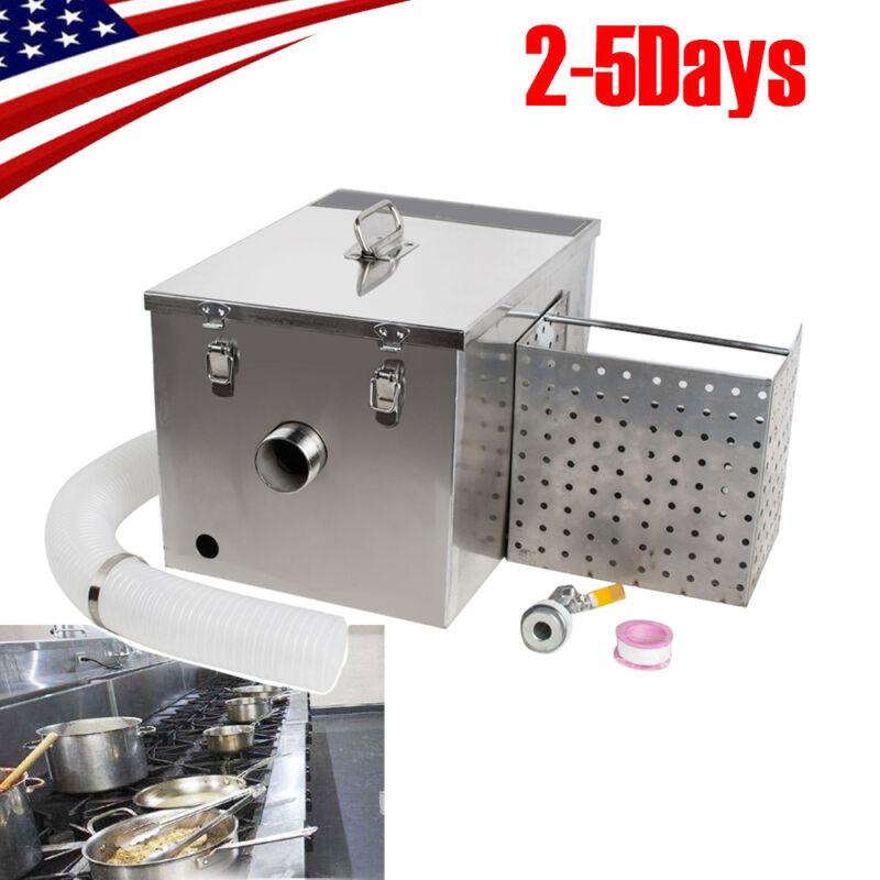 Stainless Steel Grease Trap Interceptor Set For Restaurant Kitchen 【USA】