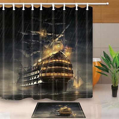 Cruise ship Bathroom Decor Shower Curtain Waterproof Fabric w/12 Hook 180*180cm (Cruise Ship Decor)