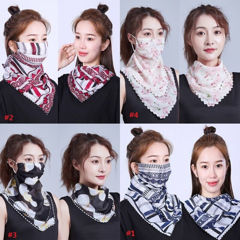Women Balaclava Scarf  Half Face Neck Cover Snood Sun UV Pro