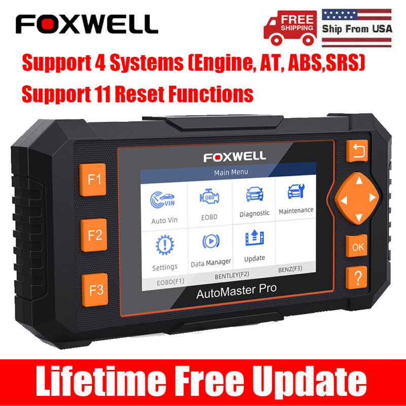 Check Engind Auto OBD2 Scanner ABS DPF Injector Coding EPB Reset Diagnostic Tool