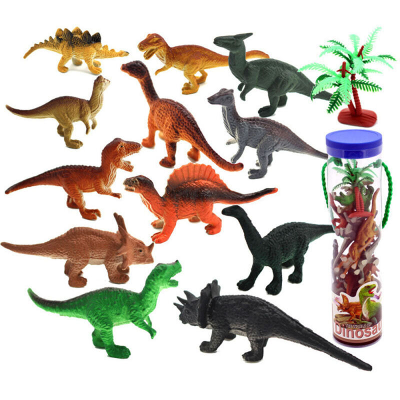 Small Collectibles Gift Ornament Model Animal Plastic 12pcs Dinosaur Toy