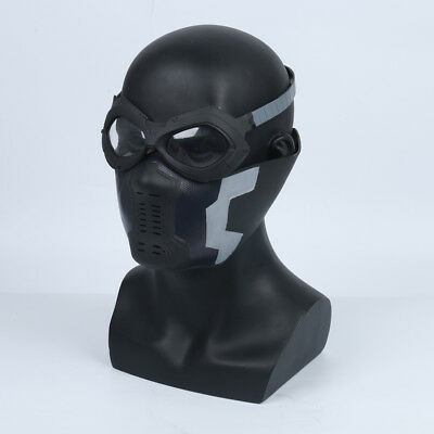 Captain America winter soldier Maske Mask Kostüm Cosplay Costume Brille Glass