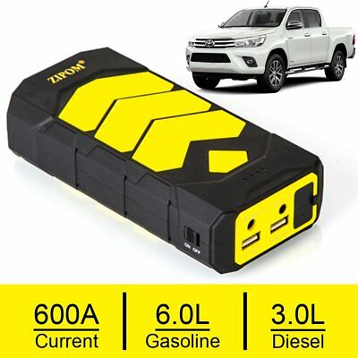 ZIPOM Heavy Duty 600A USB Jump Starter Battery Car Power Bank Charger Booster