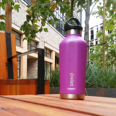 17oz Vacuum Insulated Powder Coated Slim Stainless Steel Water Bottle, [Drinco]  Slim Stainless Steel Vacuum Bottle