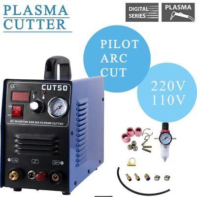 Plasma Cutter Pilot Arc 50 Amp Dual Voltage 110220v Cnc Compatible
