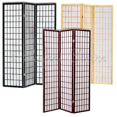 Local PICK UP ONLY 3 Folding Panel Wood Shoji Room Divider Screen Oriental (Oriental Wood Screen)