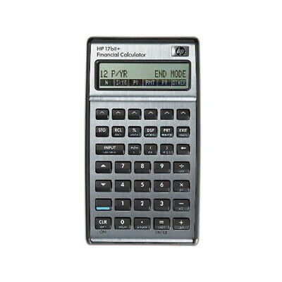 Hp 17bii Financial Calculator Silver - Back To School Special