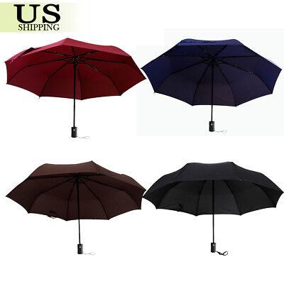 Automatic Open Close Umbrella Compact Folding Sun Rain Windproof Travel Umbrella