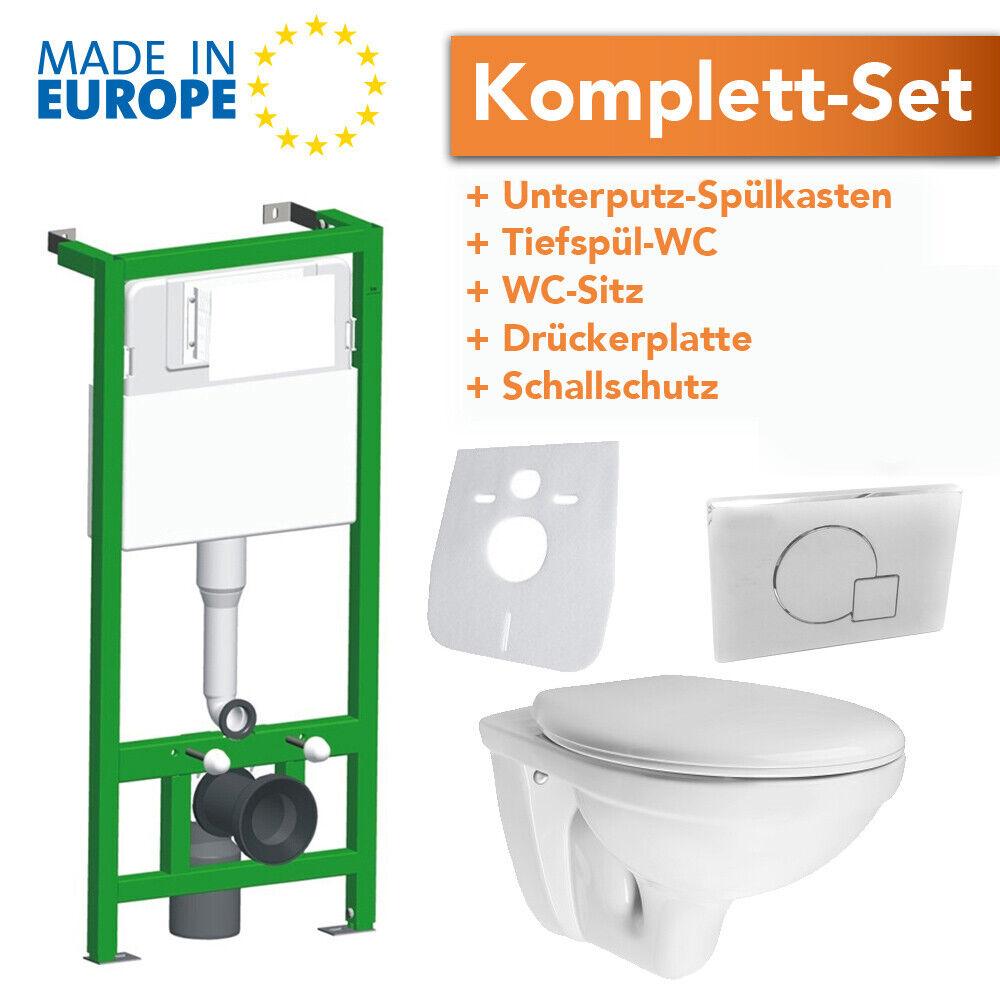Unterputz Spülkasten Wand WC Vorwandelement Drückerplatte Toilette WC Sitz