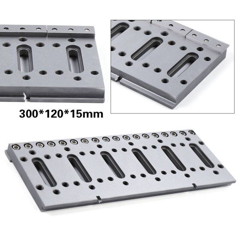 Wire EDM Machine Stainless Fixture Board For Clamping & Leveling 300x120x15mm US