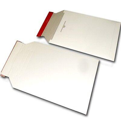 30 Versandtaschen aus Vollpappe 250x353x30mm A4+ weiß Karton Briefbox