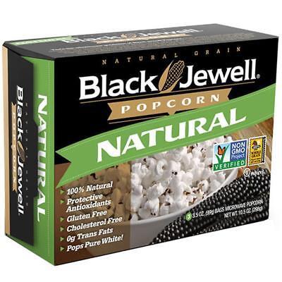 Black Jewel Popcorn (Black Jewell-Natural Microwavable Popcorn (6-10.5 oz boxes) )