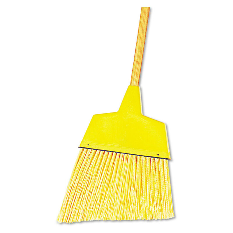 Boardwalk 932A 12-Pc. Plastic Angler Brooms w/ 53 in. Wood Handle - Yellow New