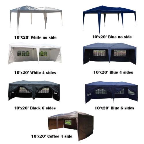 Купить Unbranded - 10x20 EZ Pop UP Wedding Party Tent Folding Gazebo Canopy Heavy Duty/ Carry Case