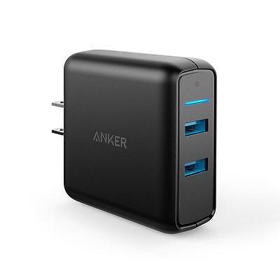 Anker 39 5W Dual Usb Wall Charger Powerport Speed With 2 Quick Charge 3 0
