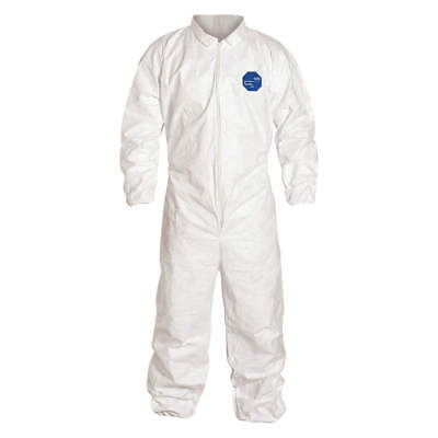 Tyvek Ty125s Coveralls With Elastic Wrist Ankle 1suit.