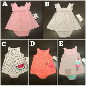 Brand new baby girl dresses/rompers. Multiple sizes available.