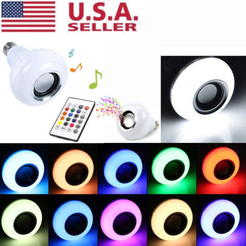 Wireless Bluetooth LED Light Speaker Bulb RGB E27 12W Smart