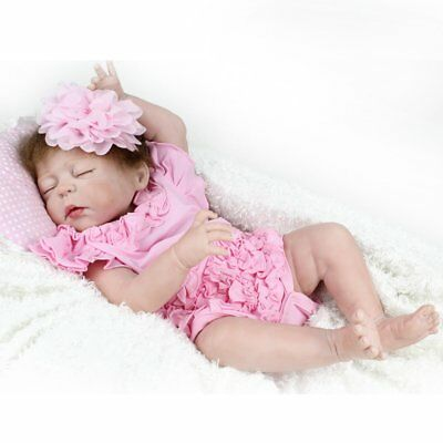 Real Life Reborn Baby Girl Dolls Full Body Soft Vinyl Silicone Baby Doll Gifts