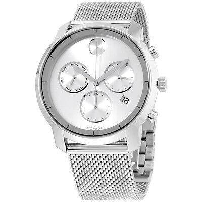 Movado Men's Swiss Chronograph Bold Stainless Steel Mesh Bracelet Watch 3600371