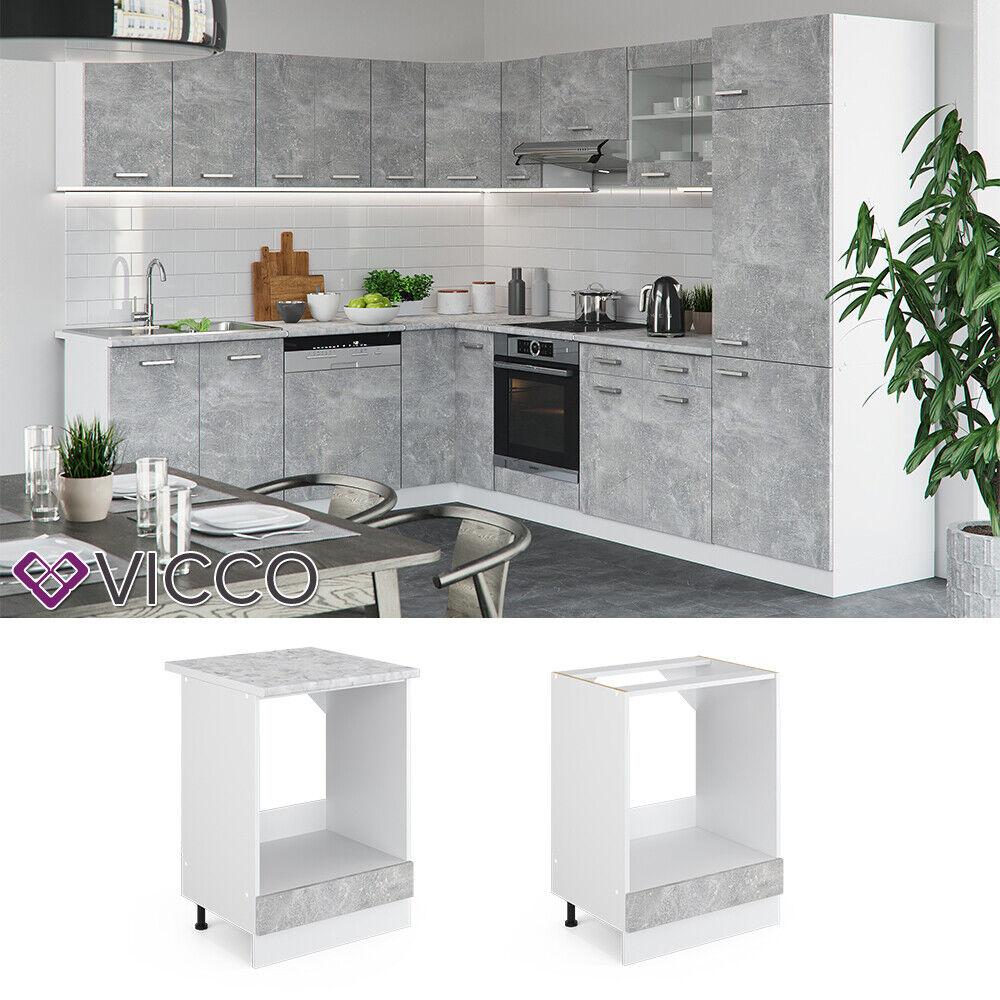 VICCO Küchenschrank Hängeschrank Unterschrank Küchenzeile R-Line Herdumbauschrank 60 cm beton