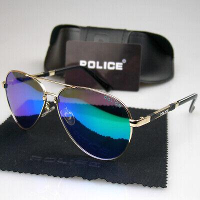 Men Women Polarized Sunglasses Gold Frame Sport Glasses Police Driving (Police Eyewear)