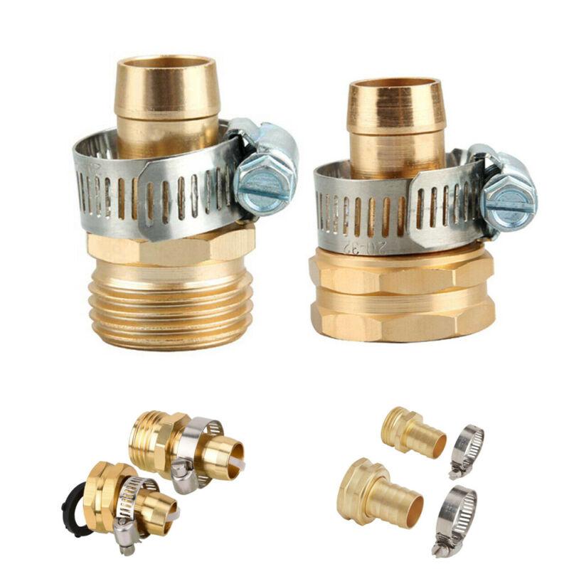 Home Garden Hose Repair Mender Kit Hose Connector 3/4 Male Female Connector Set