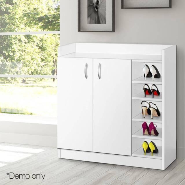 2 Doors Shoe Cabinet & Cupboard- White | Cabinets ...