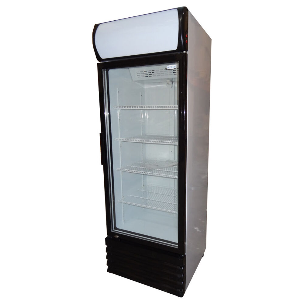 New 468lt commercial upright single door drinks fridge for 1 door chiller