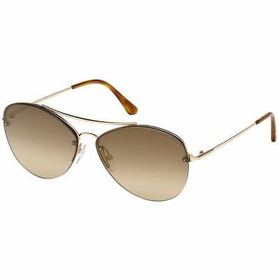Tom Ford Margret Women's Sunglasses w/Brown Mirrored Lens FT0566 (Tom Ford Aviators Women)