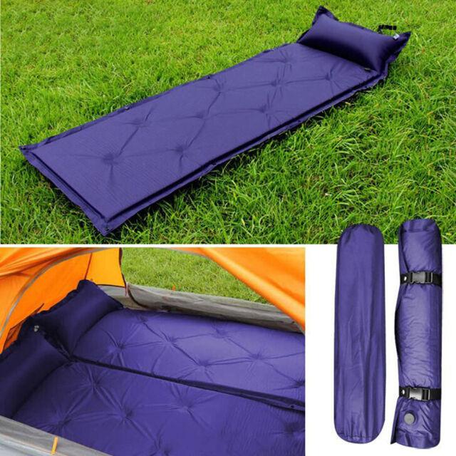 SINGLE SELF INFLATING CAMPING ROLL MAT/PAD INFLATABLE BED SLEEPING MATTRESS +BAG