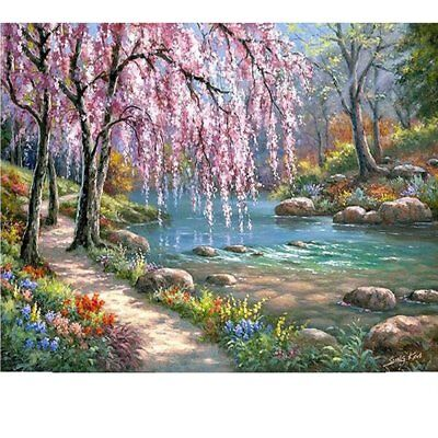Spring 16x20 Paint By Number Canvas Kit DIY Oil Painting For Adults No Frame (Spring Crafts For Adults)