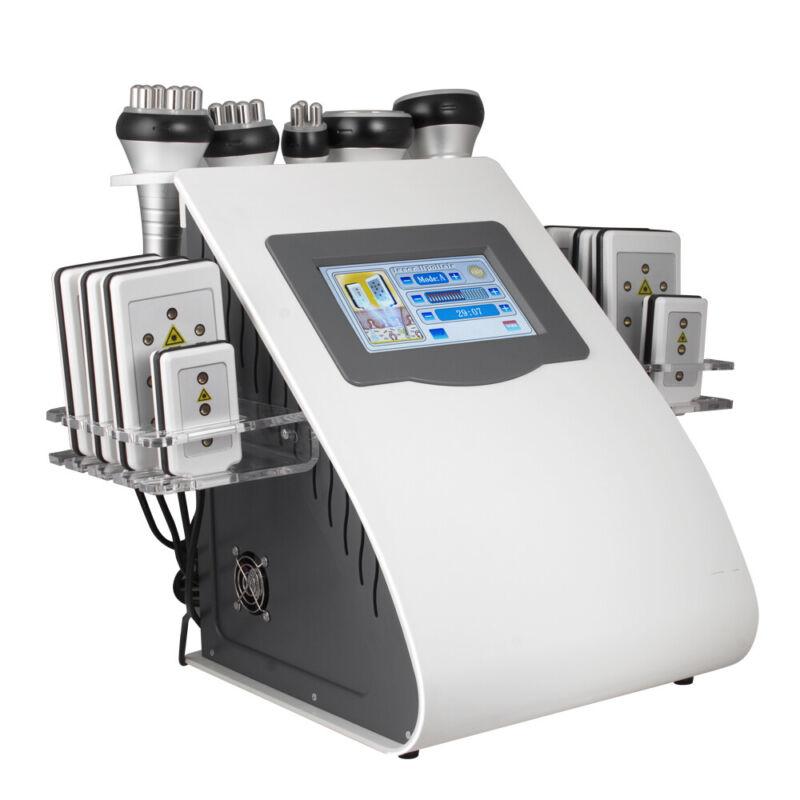 6 In1 40K Ultrasonic Cavitation Anti-Cellulite Laser Lipo Laser Slimming Machine