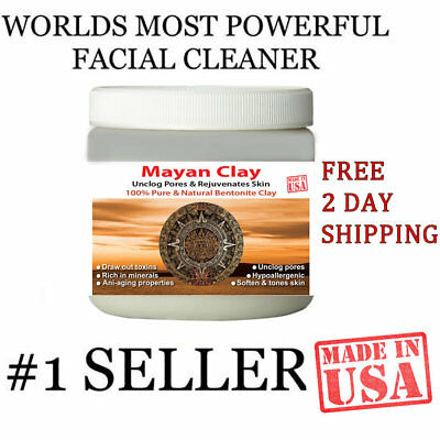 MAYAN'S SECRET INDIAN HEALING CLAY Deep Pore Cleansing Beauty Facial Mask- (Deep Cleansing Clay Mask Masks)