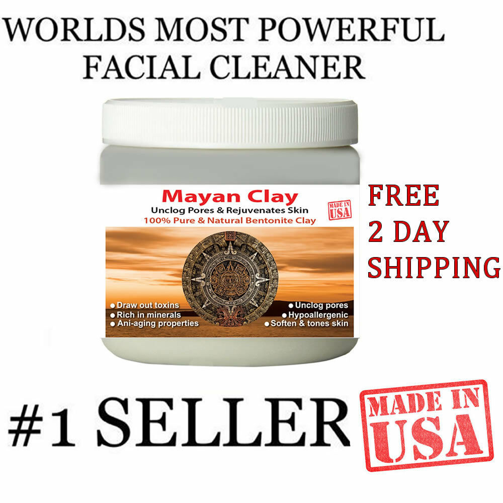MAYANS SECRET INDIAN HEALING CLAY Deep Pore Cleansing Beauty Facial Mask 1Lbs