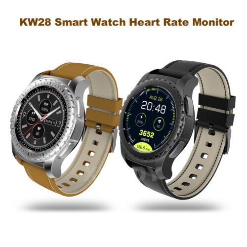KW28 Bluetooth Smartwatch Armbanduhr Handy Pulsuhr SIM für iPhone iOS Android LG