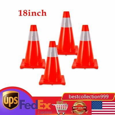 4pcs 18 Traffic Cones Overlap Parking Construction Emergency Road Safety Cone