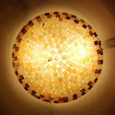 Stained Glass Flush Mount Ceiling Light Fixture Tiffany Style Lamp Shell (Fashion Fixtures)