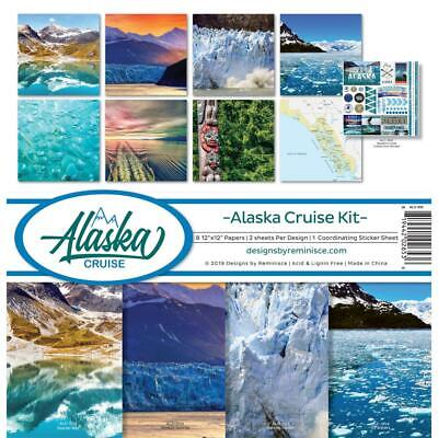 - Scrapbooking Crafts 12X12 Paper Kit Alaska Cruise Glacier Ocean Mountains Tiki