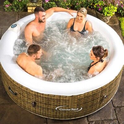 Cleverspa Borneo 4 Person Hot Tub Brand New Garden Spa Inflatable