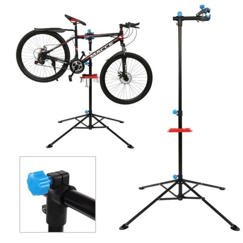 Steel Bike Bicycle Maintenance Mechanic Station Repair Tool Rack Work Stand Rack