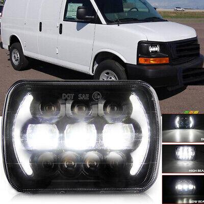 DOT 5x7 7x6'' LED Headlight Sealed Hi/Lo Beam DRL For Savana 1500 2500 3500