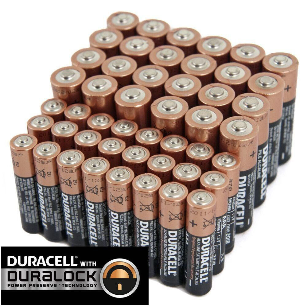 Duracell 24 AA + 24 AAA Batteries Coppertop Alkaline Long Lasting Bulk EXP 2025